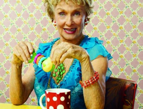 Backstage at the Norton Center with Cloris Leachman