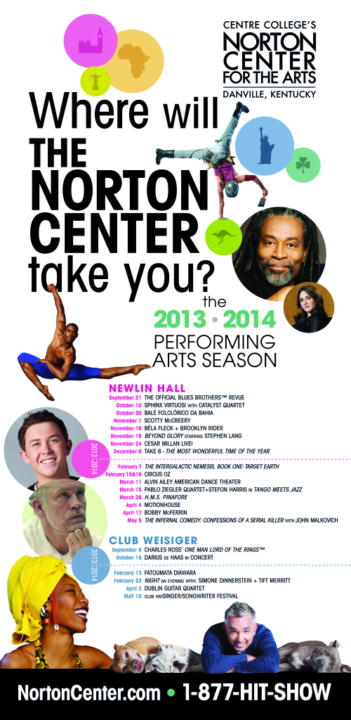 from the directors desk - From the Director's Desk:  Where will the Norton Center take you this season?