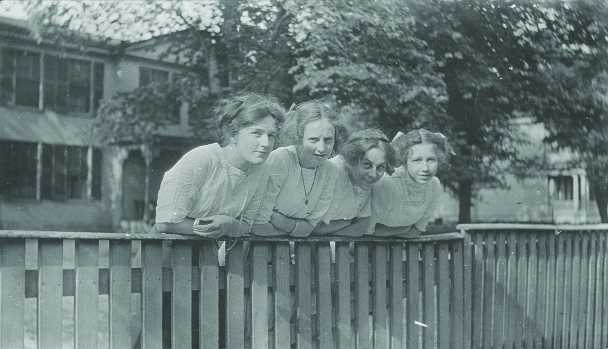 Caldwell College students KY College for Women 1912. Left to right Martha Butt Katherine Letcher Frances Allen Jane Letcher. - Centre College: A Place of Large Advantages