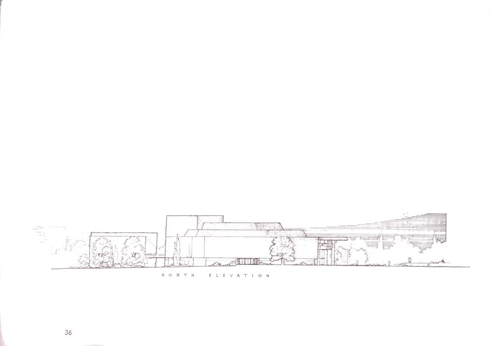 north elevation sketch 1 - The Wright Angle Exhibit