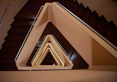 FLW Staircase 400x281 - The Wright Angle Exhibit
